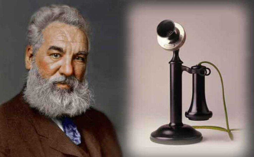 who invented telephone The first telephone was made by alexander graham bell in 1876 historians believe that another inventor elisha gray also invented the telephone at the same time independently and both the inventors rushed to the patent office to get their invention patented but graham bell got the patent first on march 7, 1876.